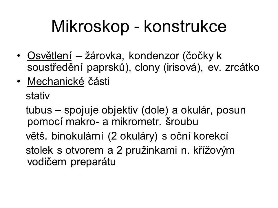 Mikroskop - konstrukce