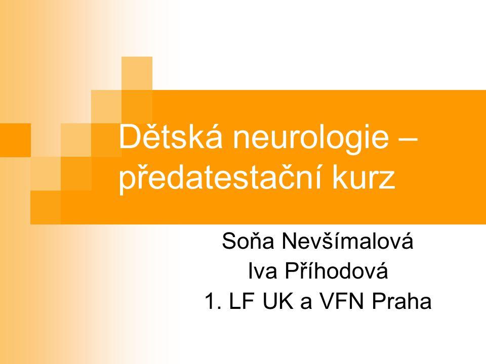 Dětská neurologie – předatestační kurz