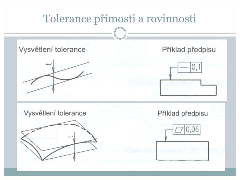 Tolerance přímosti a rovinnosti