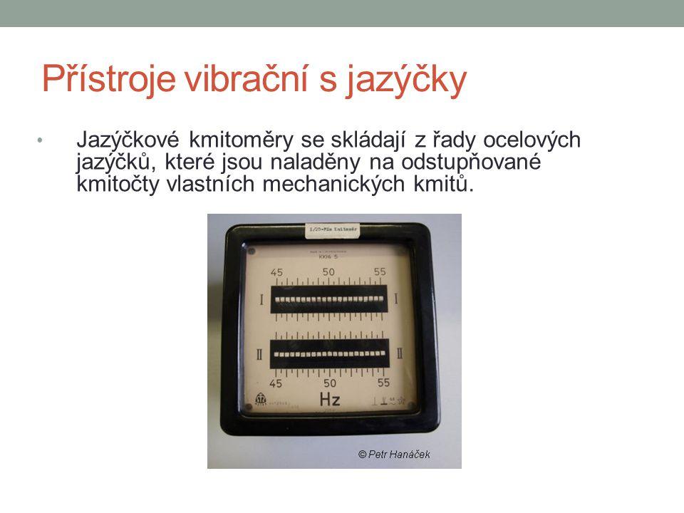 Přístroje vibrační s jazýčky