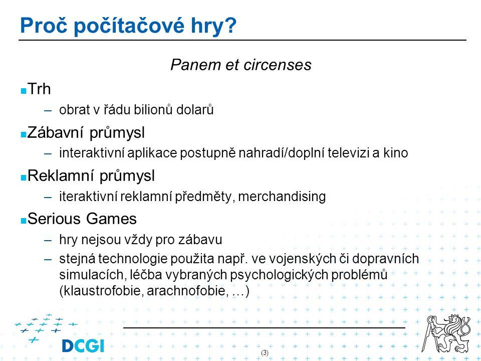 Proč počítačové hry Panem et circenses Trh Zábavní průmysl