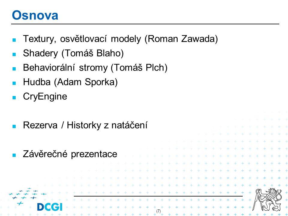 Osnova Textury, osvětlovací modely (Roman Zawada)