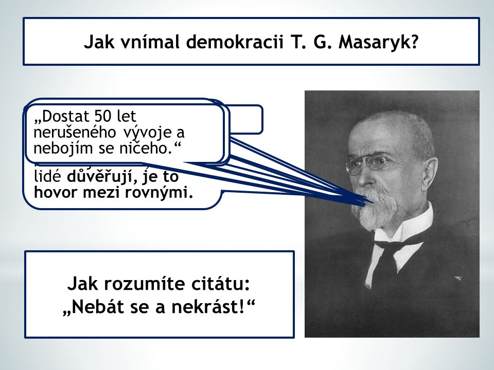 Jak vnímal demokracii T. G. Masaryk