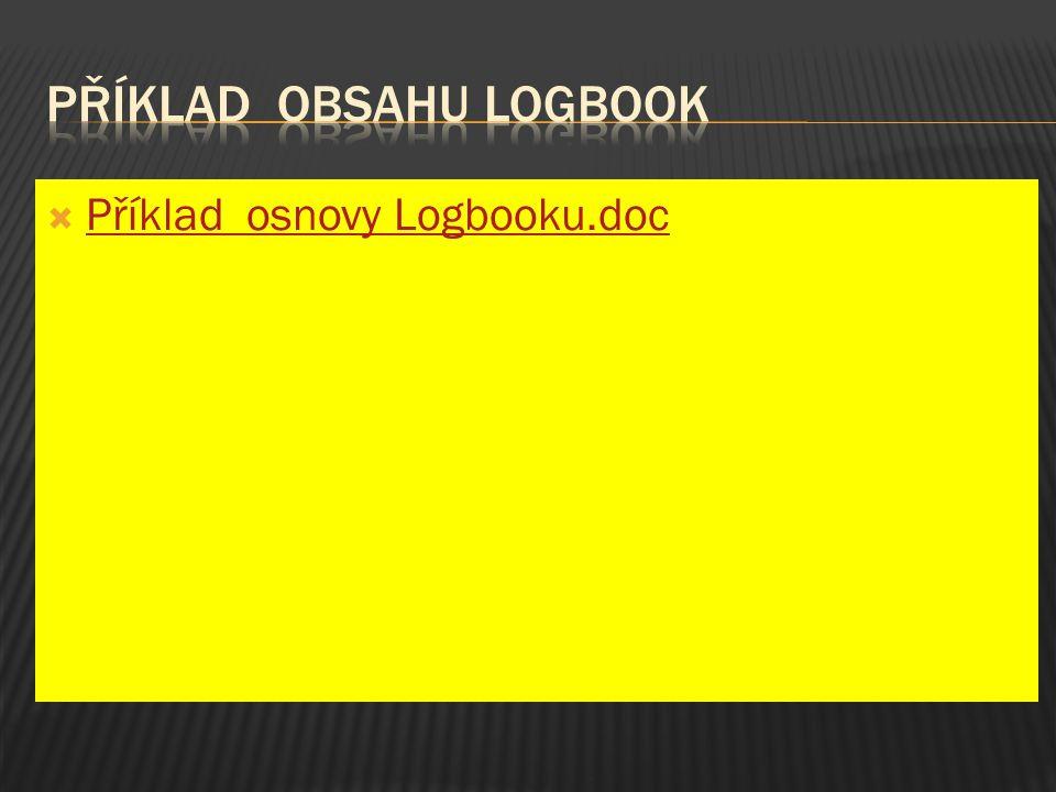 Příklad obsahu logbook