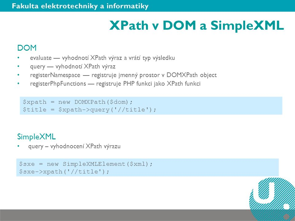 XPath v DOM a SimpleXML DOM SimpleXML