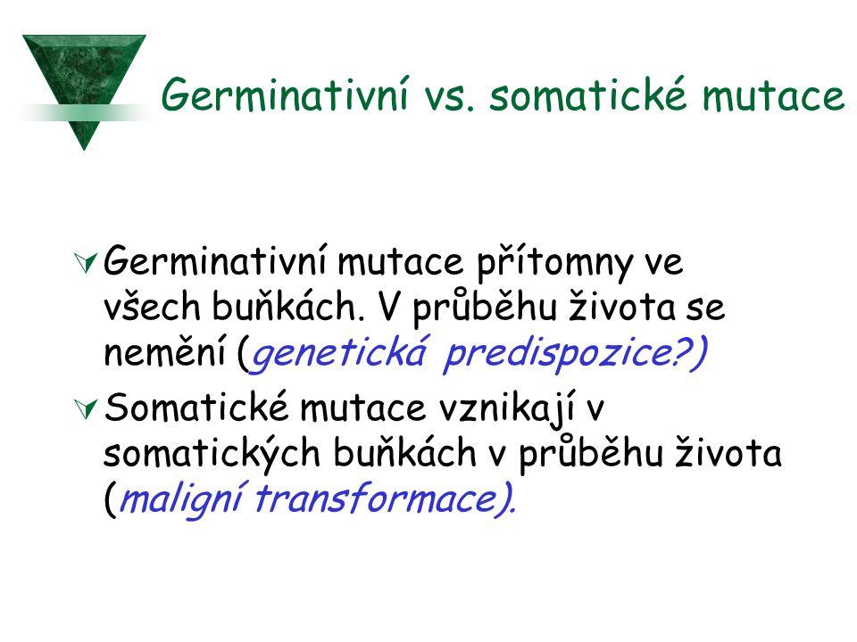 Germinativní vs. somatické mutace