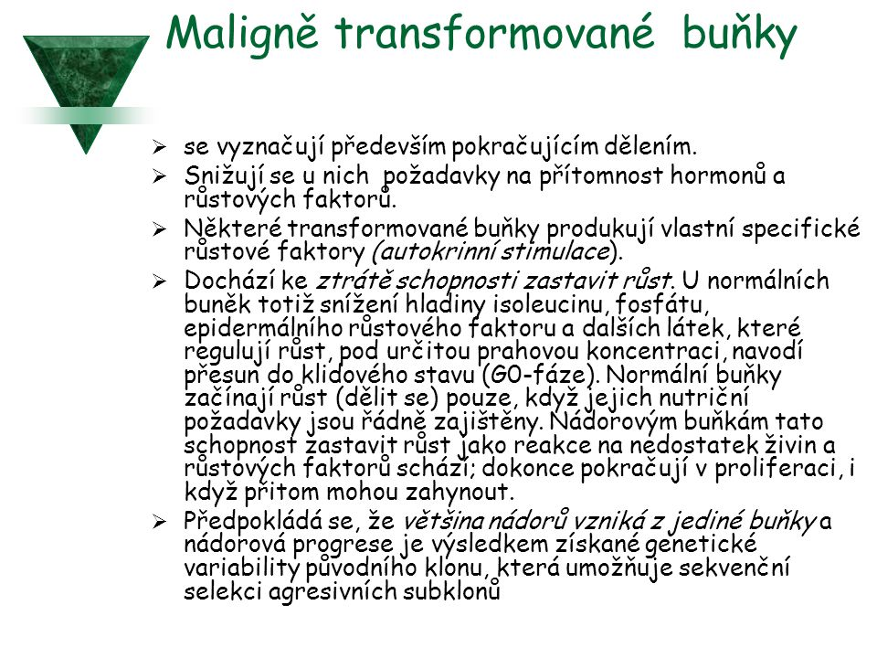 Maligně transformované buňky