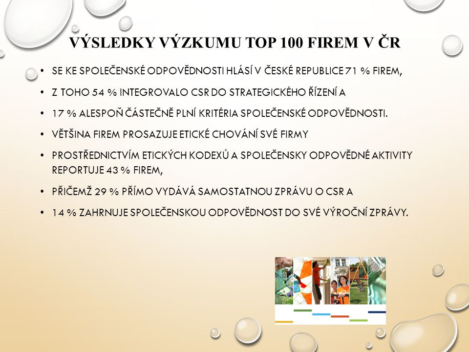 VÝSLEDKY VÝZKUMU TOP 100 FIREM V ČR