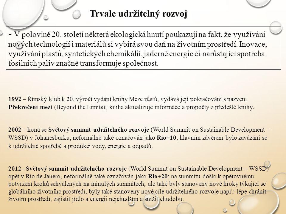 Trvale udržitelný rozvoj