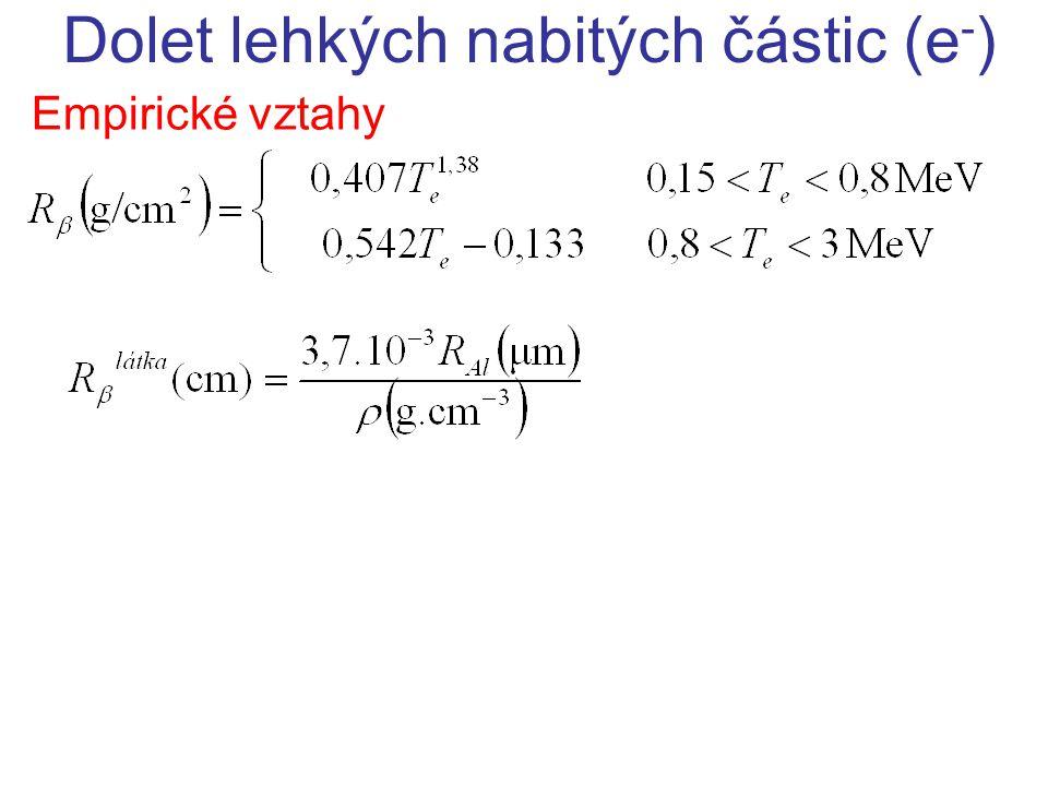 Dolet lehkých nabitých částic (e-)
