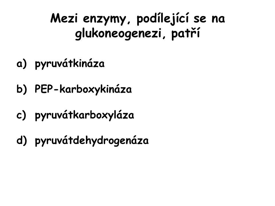 Mezi enzymy, podílející se na glukoneogenezi, patří