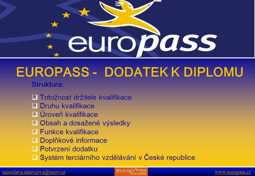 EUROPASS - DODATEK K DIPLOMU