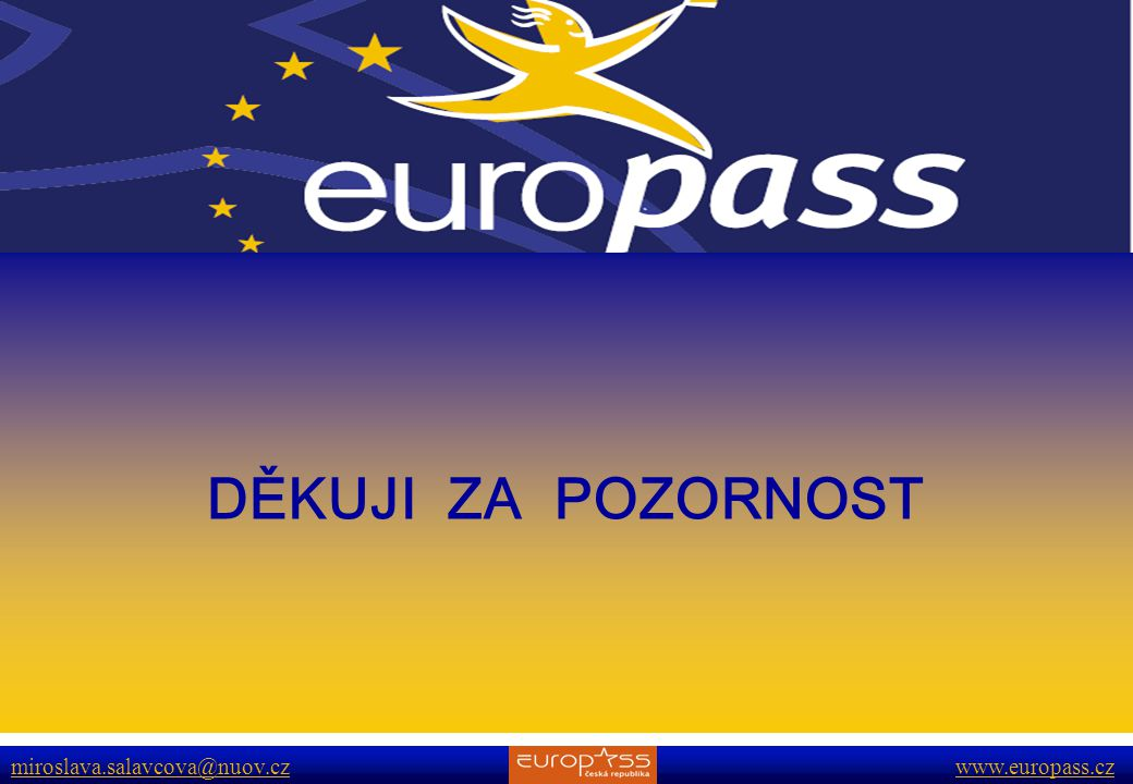 DĚKUJI ZA POZORNOST www.europass.cz