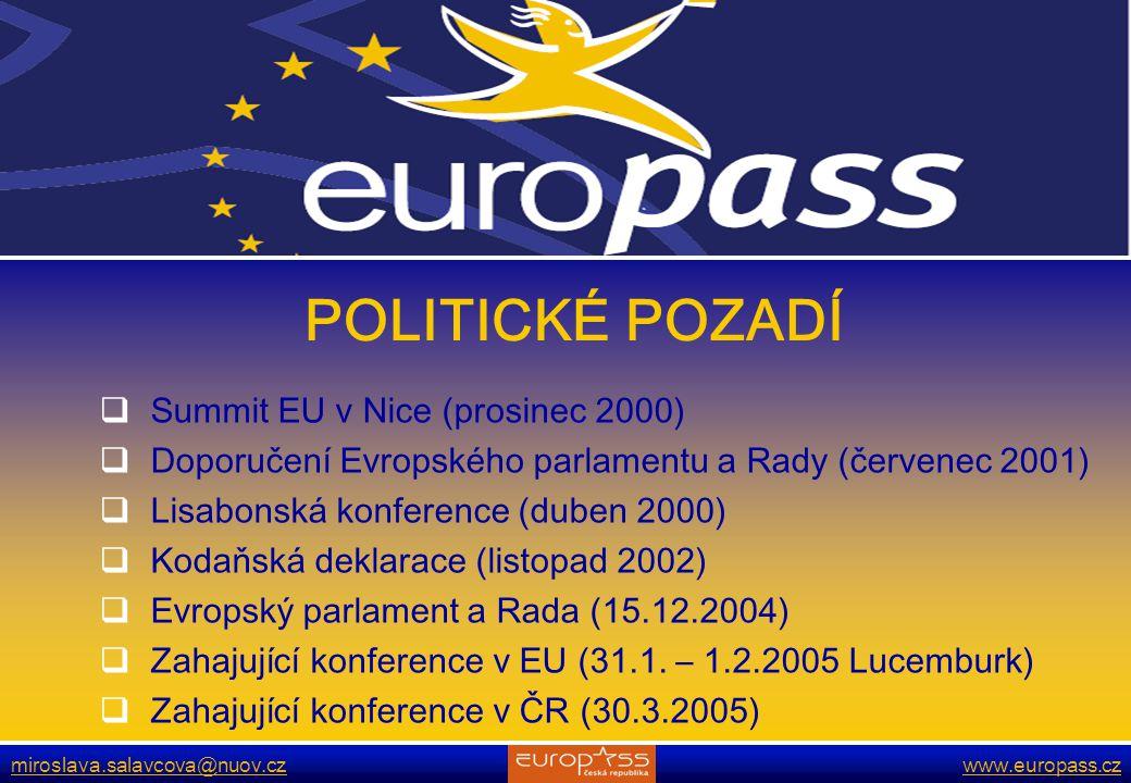 POLITICKÉ POZADÍ Summit EU v Nice (prosinec 2000)
