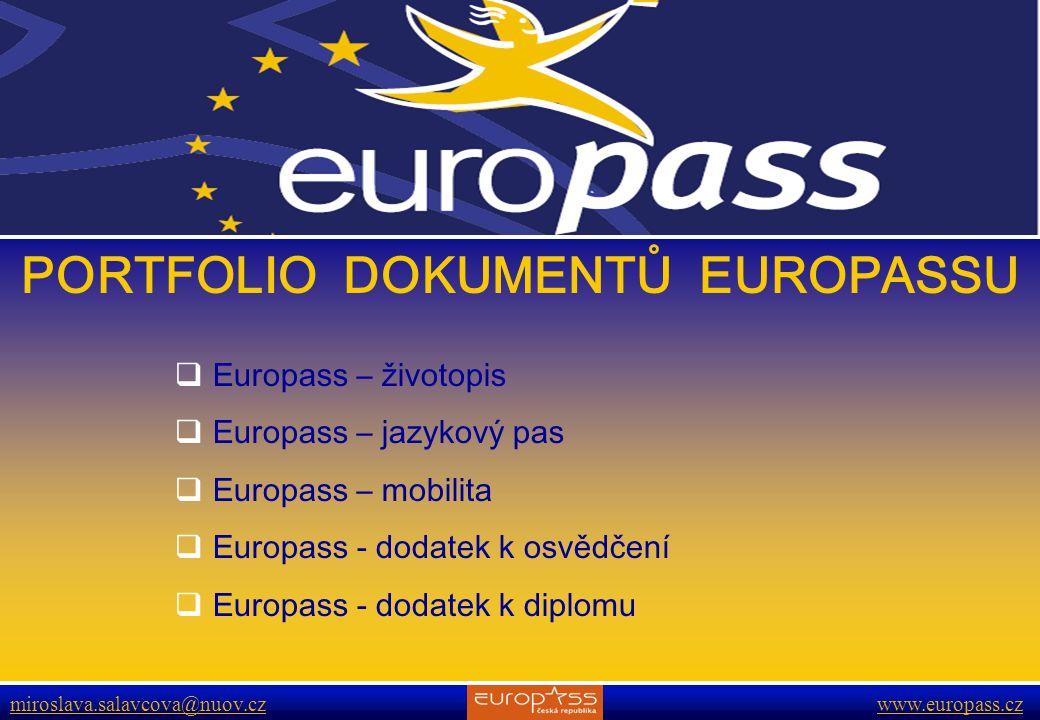 PORTFOLIO DOKUMENTŮ EUROPASSU