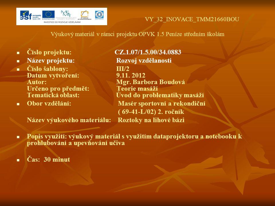 VY_32_INOVACE_TMM21660BOU Výukový materiál v rámci projektu OPVK 1