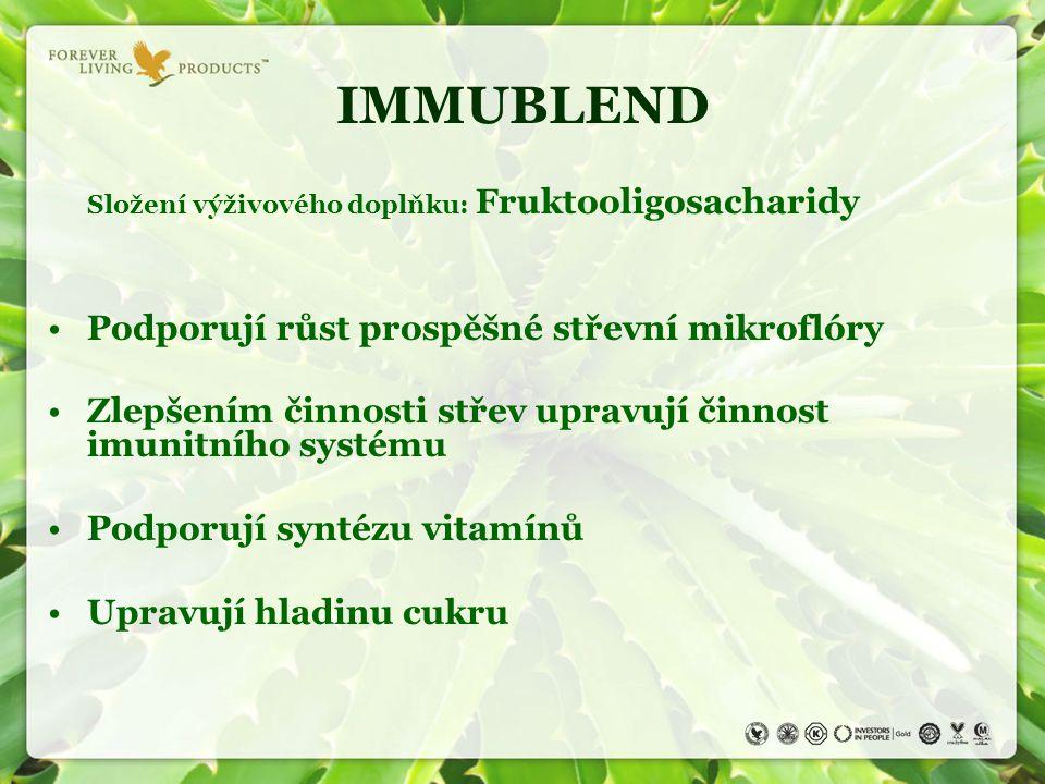 IMMUBLEND Podporují růst prospěšné střevní mikroflóry