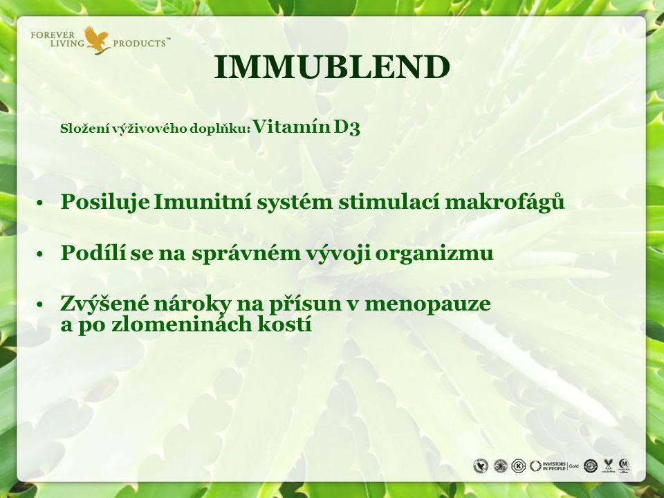 IMMUBLEND Posiluje Imunitní systém stimulací makrofágů