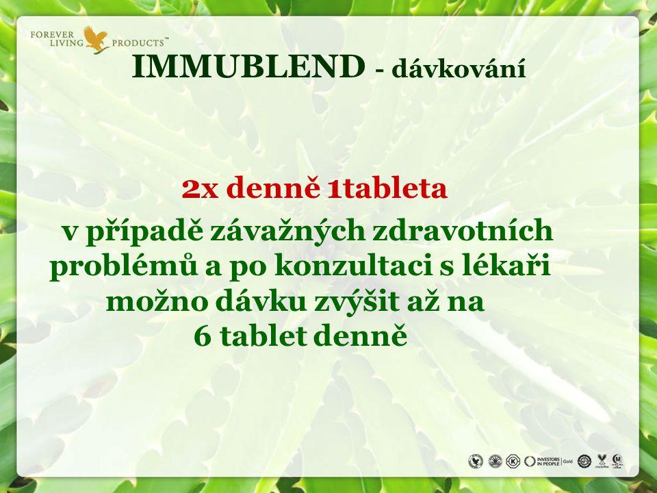 IMMUBLEND - dávkování 2x denně 1tableta