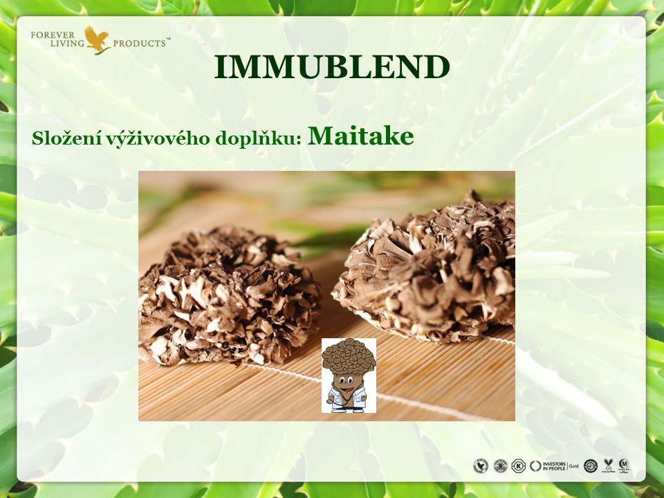 IMMUBLEND Složení výživového doplňku: Maitake