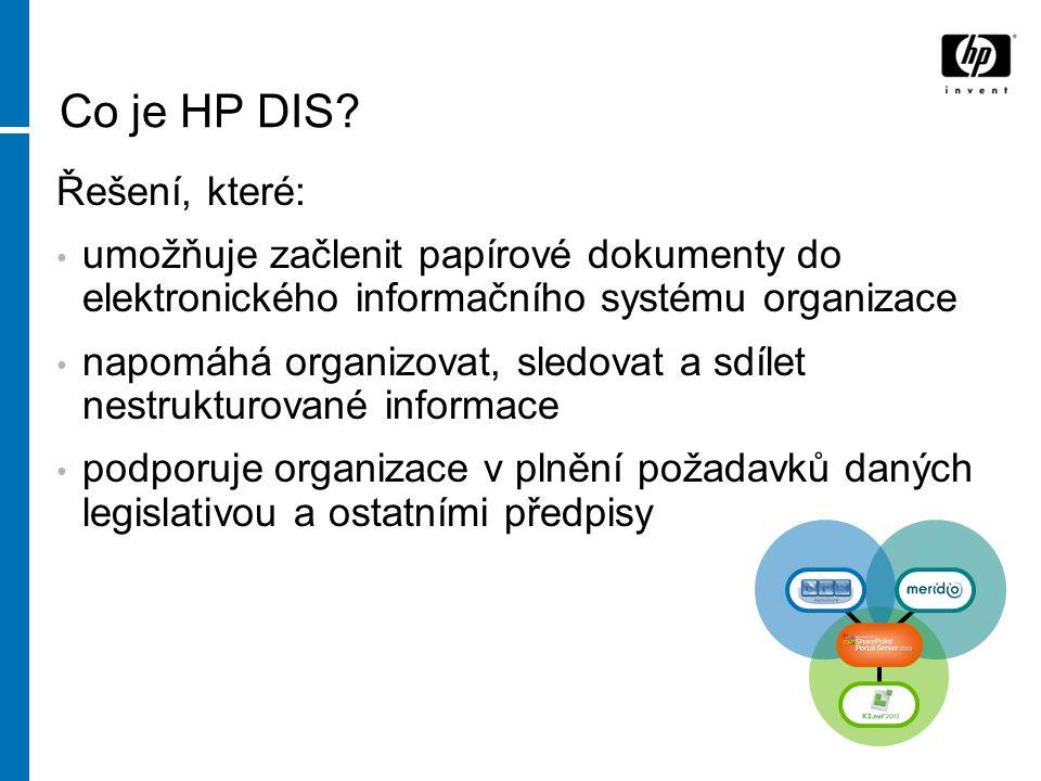 Co je HP DIS Řešení, které: