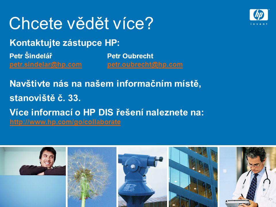 Chcete vědět více Kontaktujte zástupce HP: