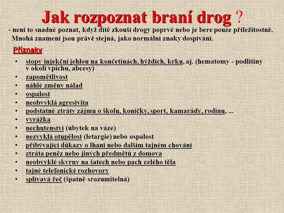 Jak rozpoznat braní drog