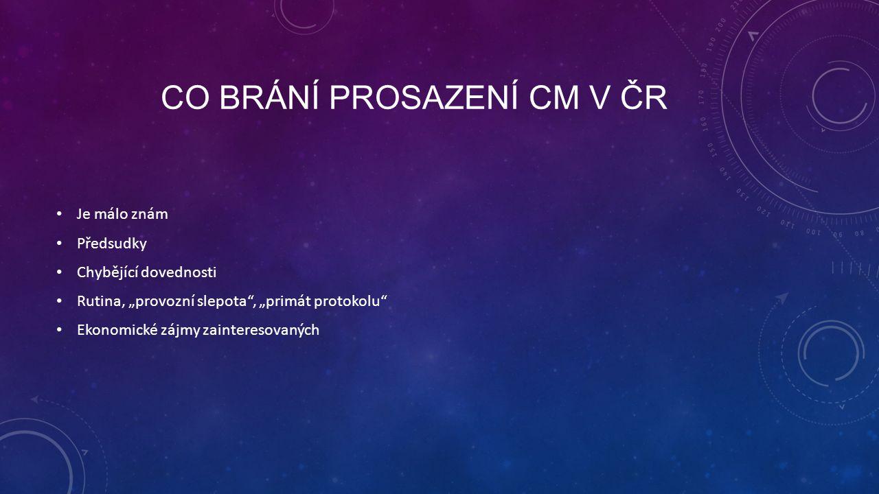 Co brání prosazení CM v ČR