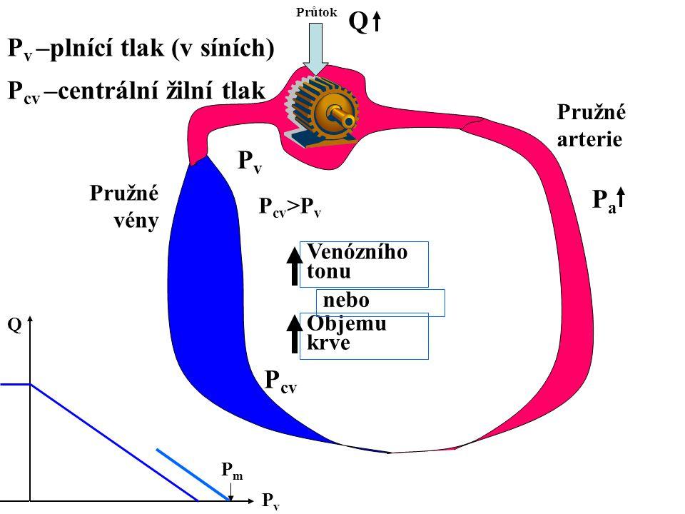 Pv –plnící tlak (v síních)