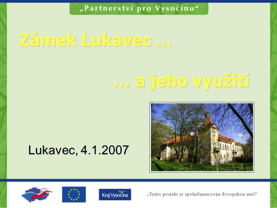 Zámek Lukavec … … a jeho využití