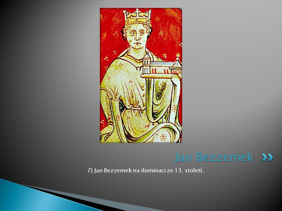 7) Jan Bezzemek na iluminaci ze 13. století.