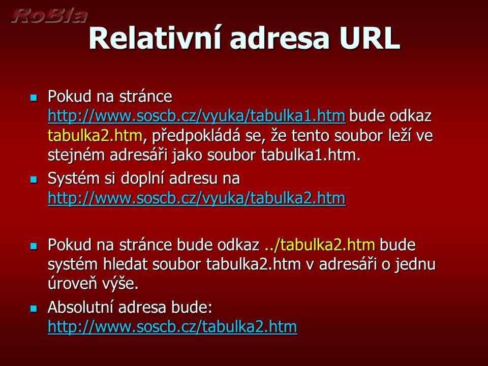Relativní adresa URL