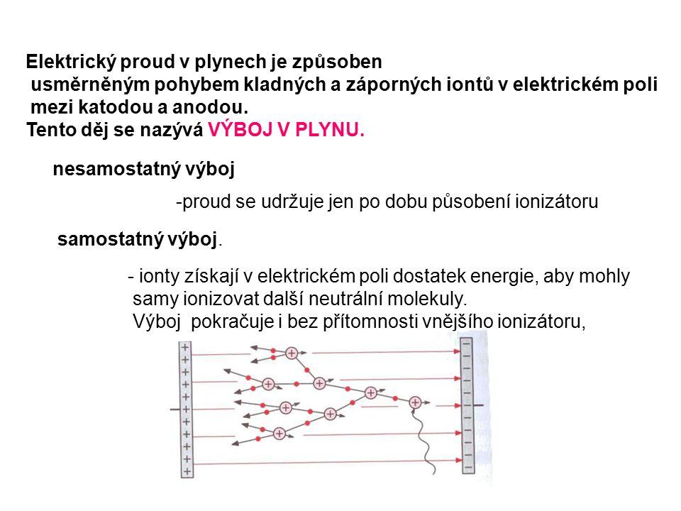 Elektrický proud v plynech je způsoben