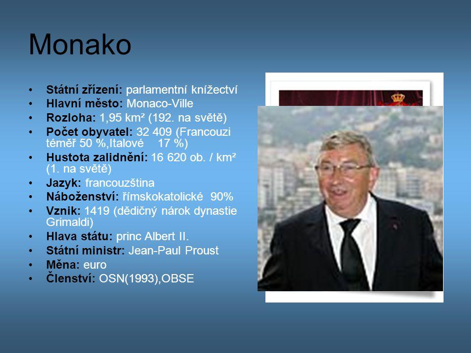 Monako Státní zřízení: parlamentní knížectví