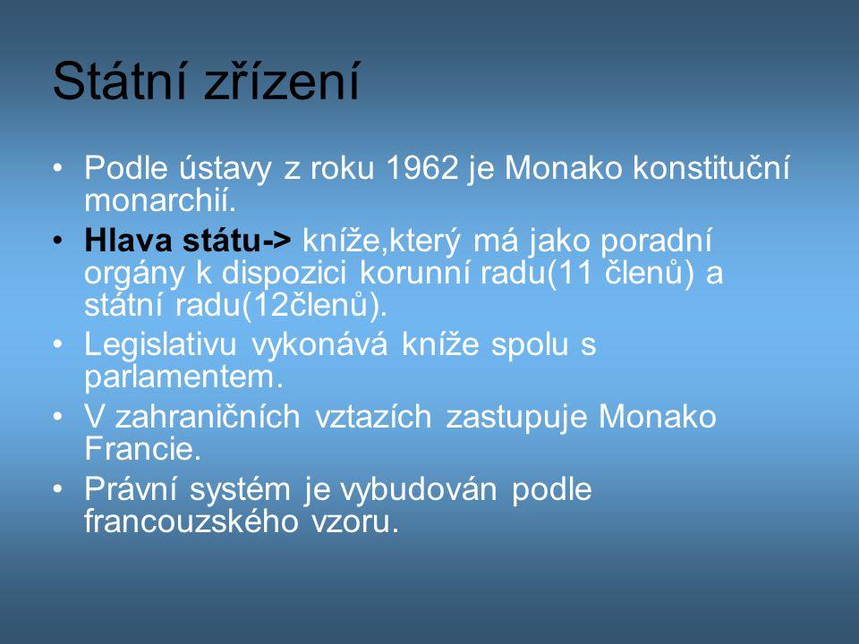 Státní zřízení Podle ústavy z roku 1962 je Monako konstituční monarchií.