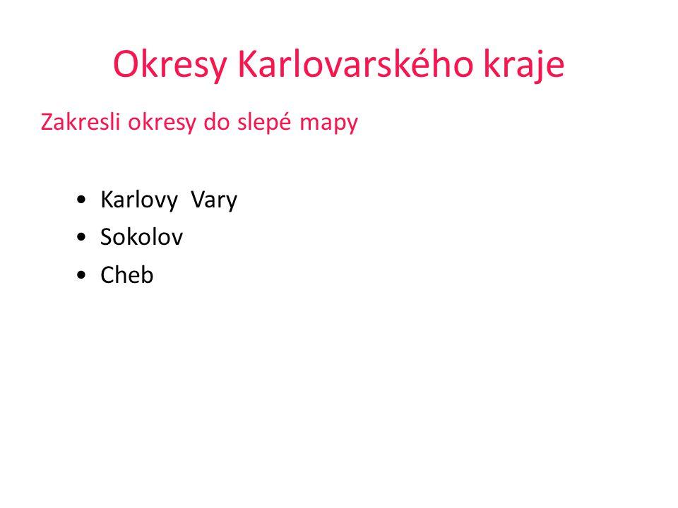 Okresy Karlovarského kraje