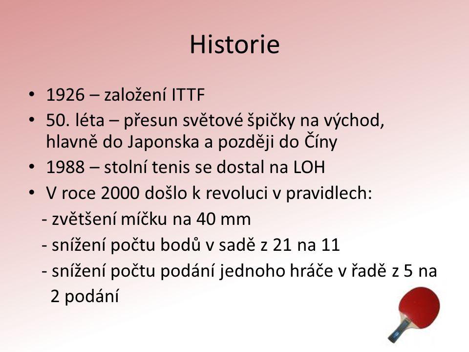 Historie 1926 – založení ITTF