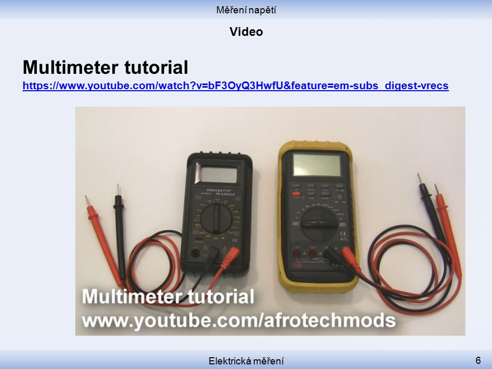 Multimeter tutorial Video