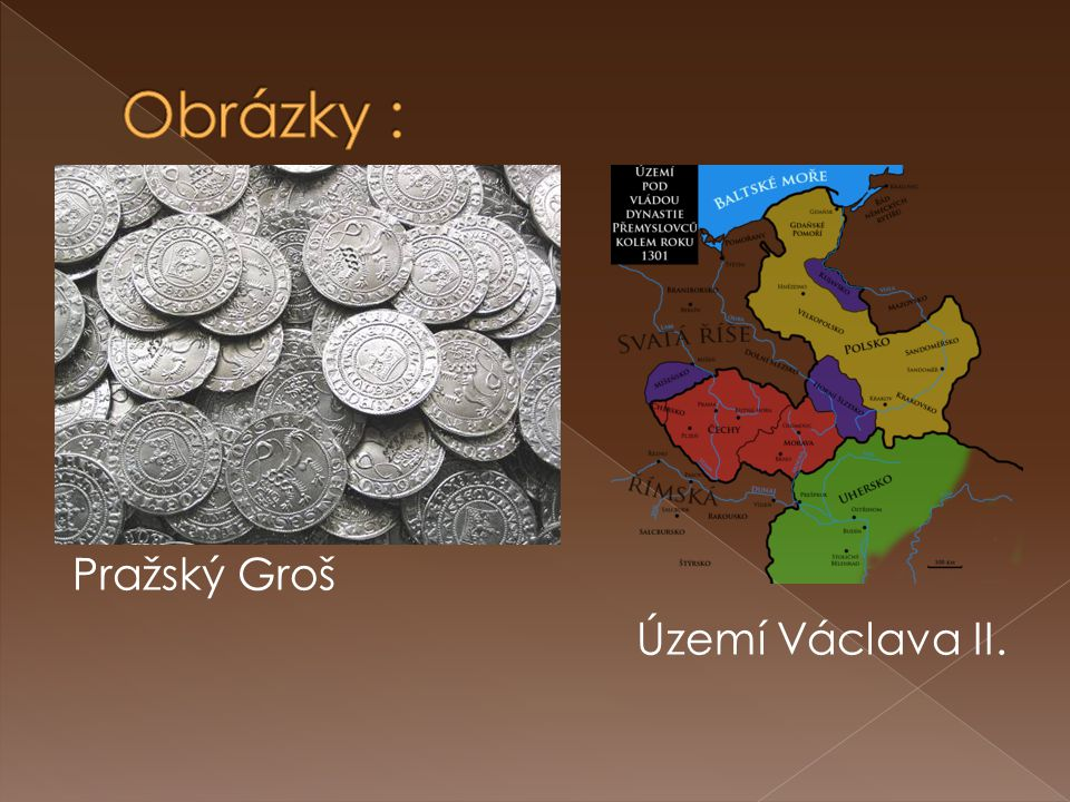 Obrázky : Pražský Groš Území Václava II.