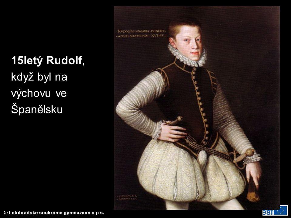 15letý Rudolf, když byl na výchovu ve Španělsku
