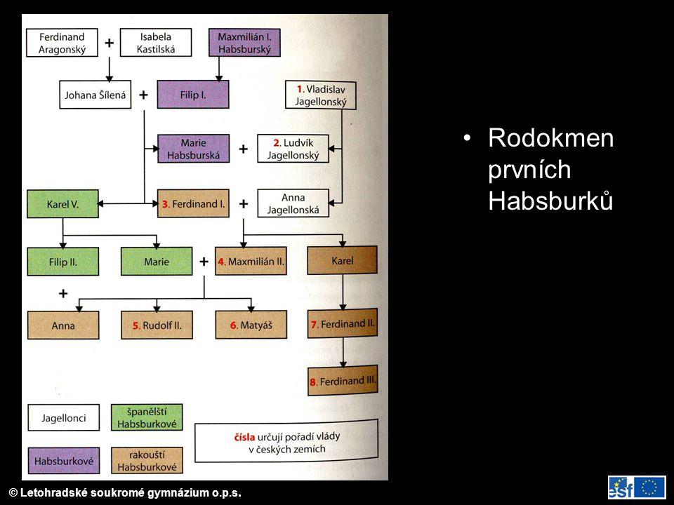 Rodokmen prvních Habsburků