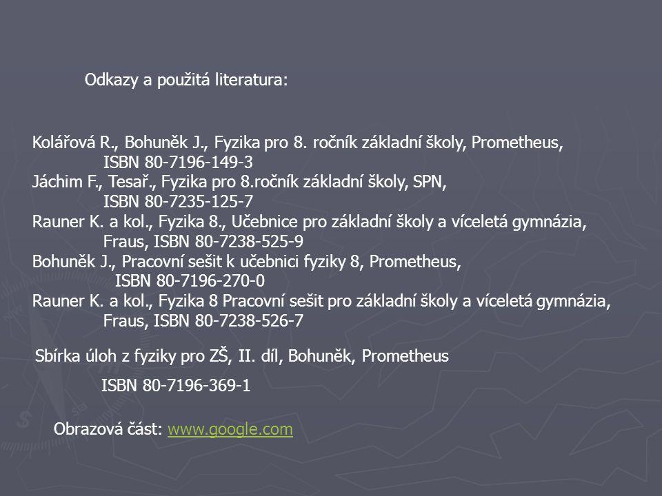 Kolářová R. , Bohuněk J. , Fyzika pro 8
