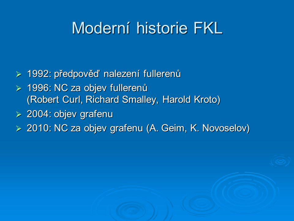 Moderní historie FKL 1992: předpověď nalezení fullerenů