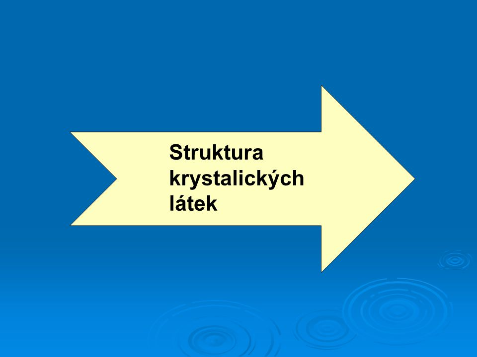 Struktura krystalických látek