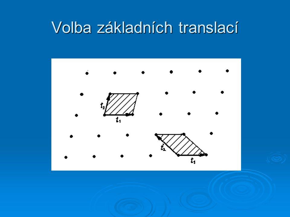 Volba základních translací