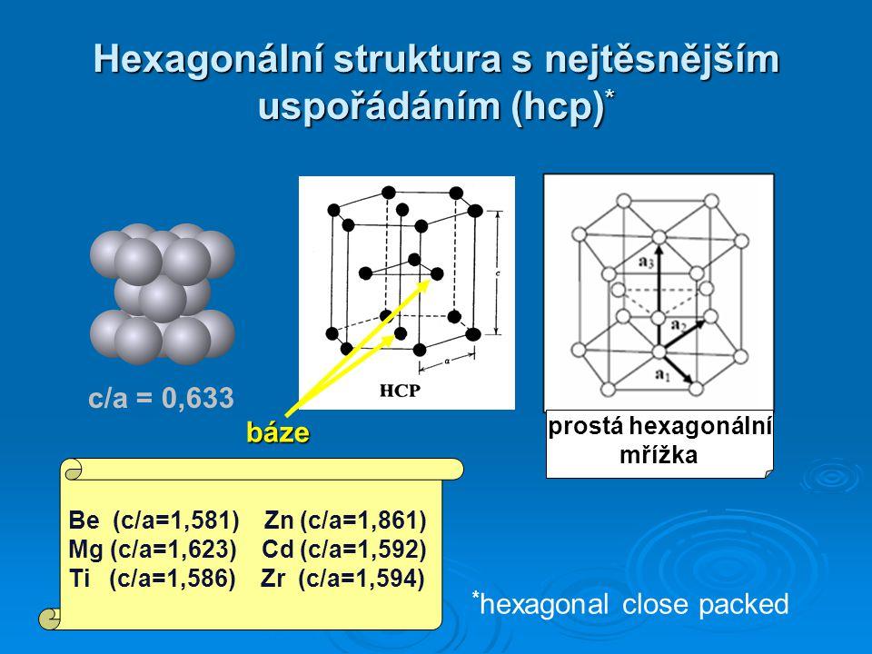 Hexagonální struktura s nejtěsnějším uspořádáním (hcp)*