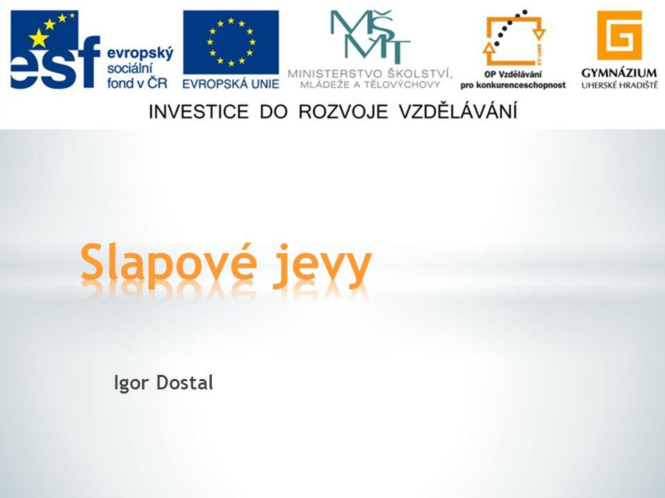 Slapové jevy Igor Dostal