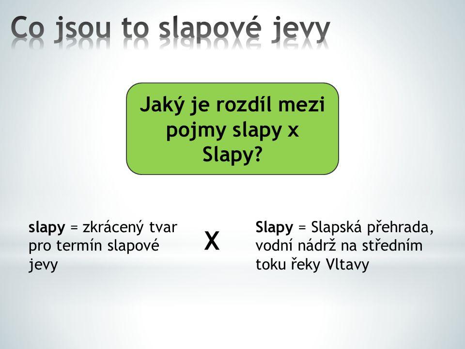 Jaký je rozdíl mezi pojmy slapy x Slapy