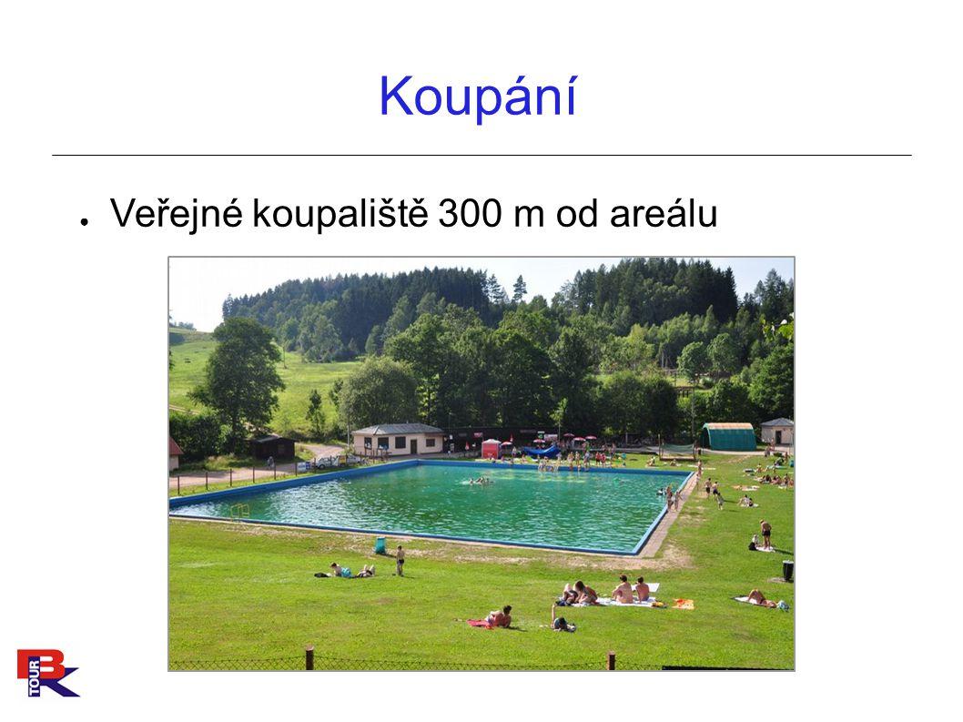 Koupání Veřejné koupaliště 300 m od areálu