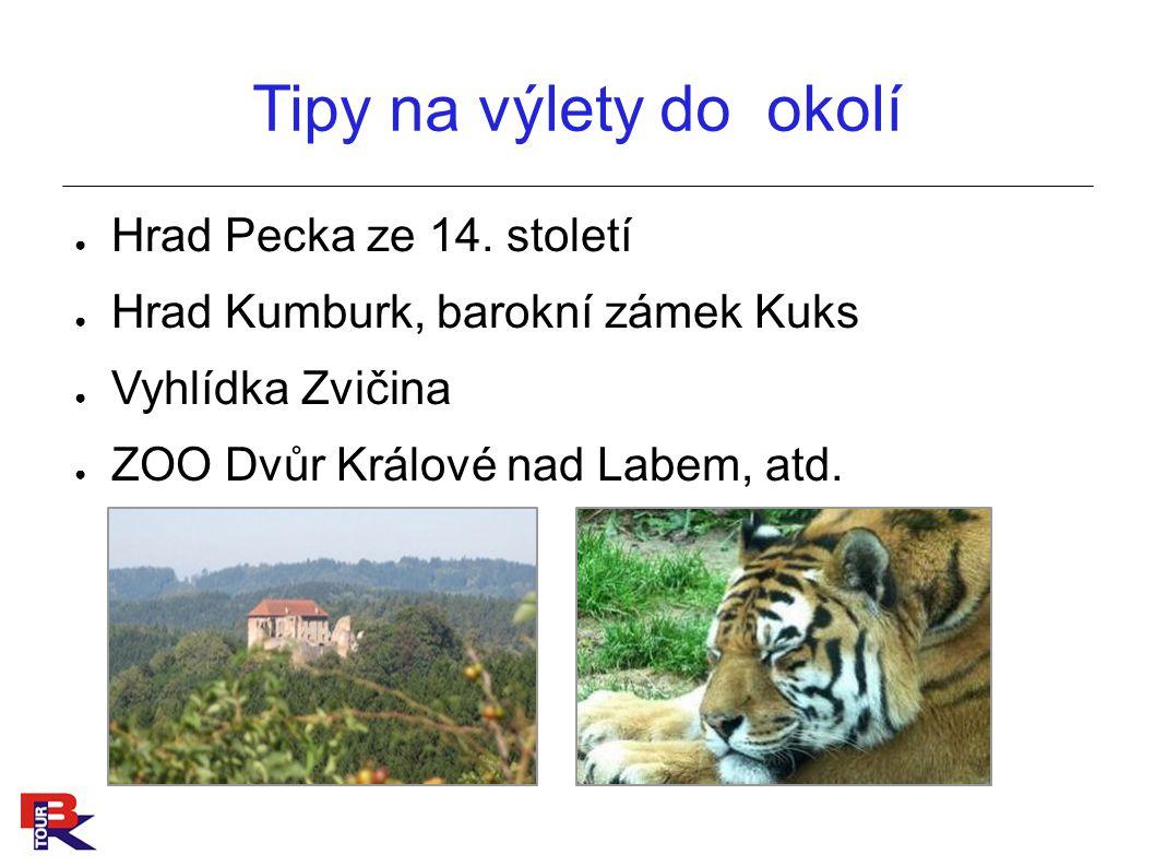 Tipy na výlety do okolí Hrad Pecka ze 14. století